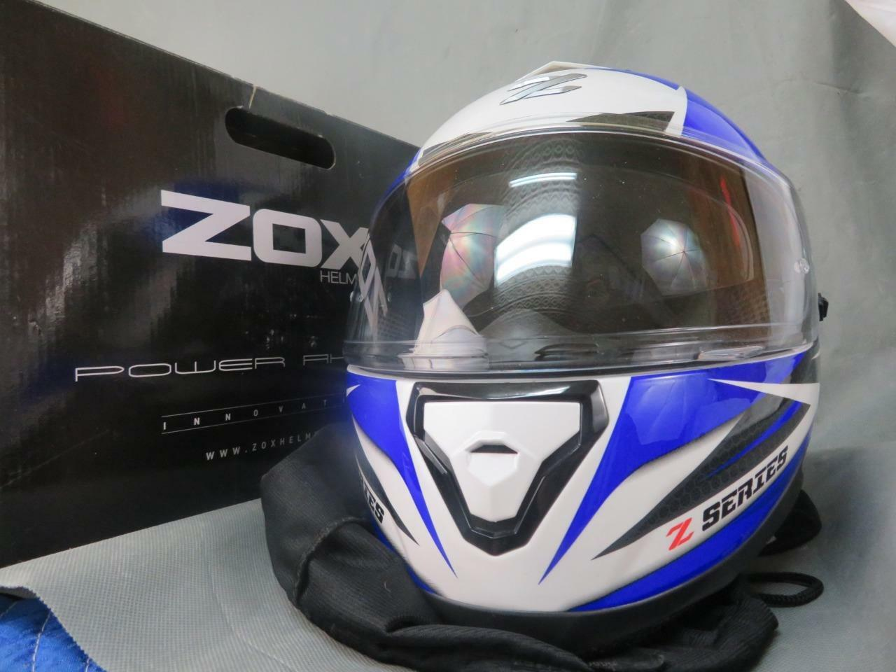 ZOX Z-FF10 Dawn bluee XL Full Face Helmet   USED in box  online discount