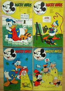 TOPOLINO n. 9, 17, 40 di 1972, N. 30 di 1973-la raccolta 4 COMIC QUADERNI DISNEY