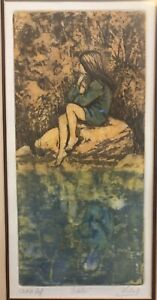 Vintage-October-Artists-Proof-Painting-8-1-2-x-16-1-2-Signed-No-Frame