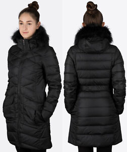 SALE NIKE WOMEN'S WINTER LONG BLACK PARKA JACKET 550 DOWN GREY ...