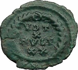 GRATIAN-379AD-Authentic-Ancient-Genuine-Roman-Coin-WREATH-of-success-i36357