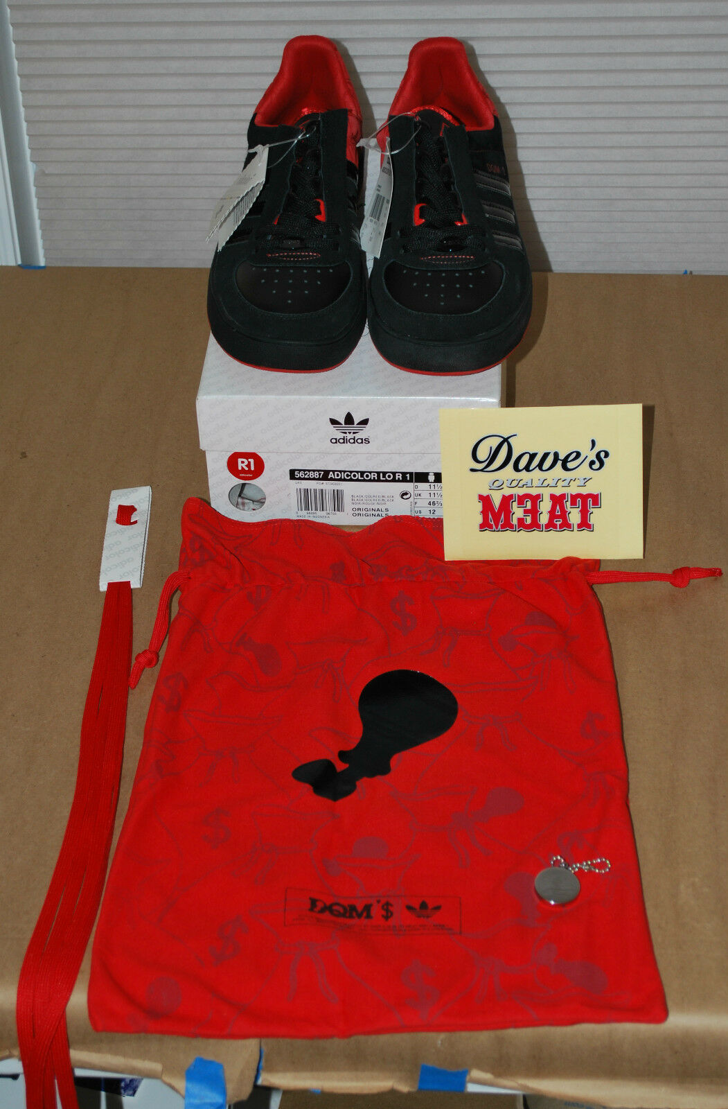 ADIDAS x J MONEY x DQM Adicolor Lo R1 Dave's Quality Meat 2006 - Size 12