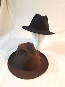 ba043efa6fd Bailey Boley Men s Packable Long Teardrop Wool Felt Fedora Hat Lot ...