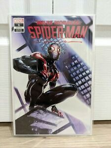 Miles-morales-spiderman-1-Crain-variant-signed-by-Clayton-Crain-with-COA-NM