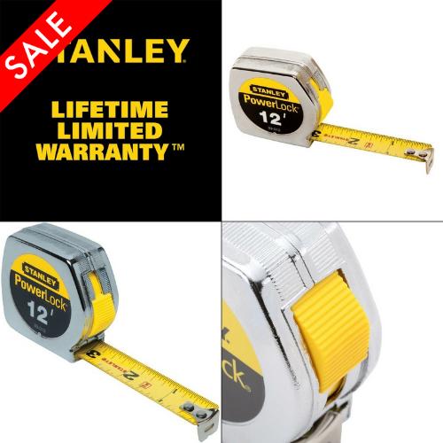 """STANLEY Tape Measure 33-312 HEAVY DUTY POWERLOCK 12/' X 3//4/"""""""