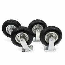 8 Pneumatic Wheel 2 Rigid 2 Swivel Casters Replacement Cart Farm Set Of 4