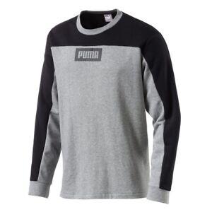 Puma Rebel Bloc Crew TR Hommes Sweatshirt lifestyle urban streetwear Nouveau neuf dans sa boîte