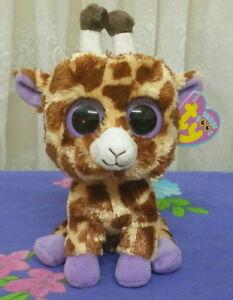 8541a9044fe Ty Beanie Boos ~ SAFARI the Brown GIRAFFE 15cm   Solid eyes   purple ...