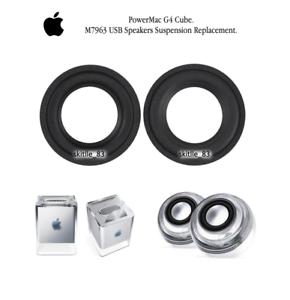 2-x-Apple-PowerMac-G4-Cube-M7963-USB-Speakers-suspension-surround-replacement