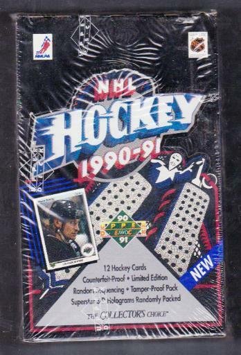 HOCKEY BOX 1990-91 UPPER DECK Low Series Factory Sealed NHL - #B3L