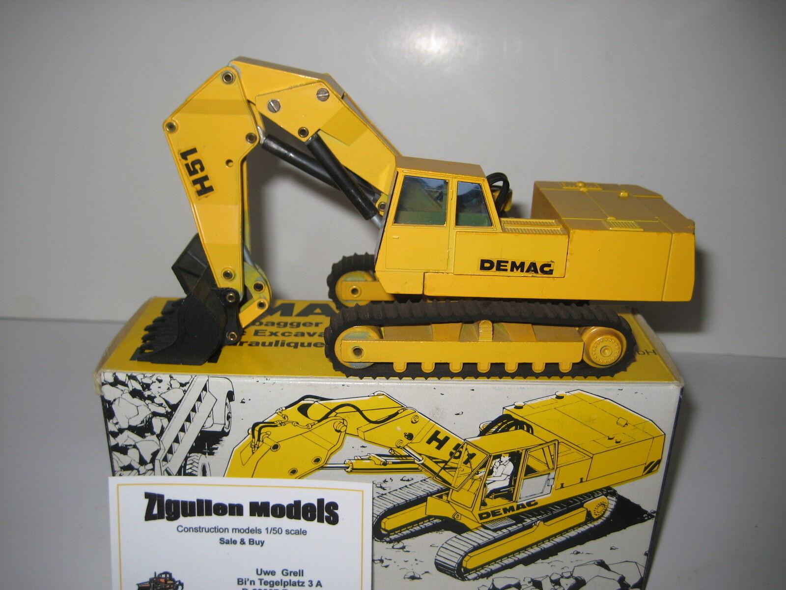 DEMAG H 51 Excavateurs hochlöffel à chenilles noires Décalques  113.4 NZG 1 50 neuf dans sa boîte