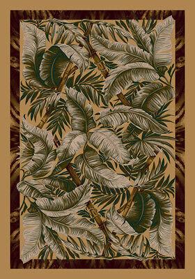 Milliken Gold Palms Beach Warm Tropical Area Rug Floral
