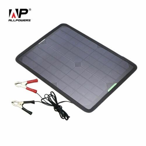 Chargeur solaire 12 V 18 V 10 W Solaire Chargeur De Voiture Batterie Mainteneur Pour Véhicule Bateau
