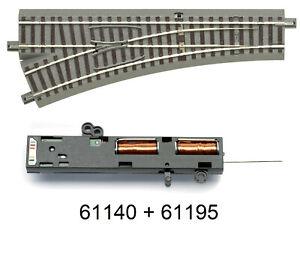Roco-H0-61140-geoLine-Weiche-links-Antrieb-61195-NEU