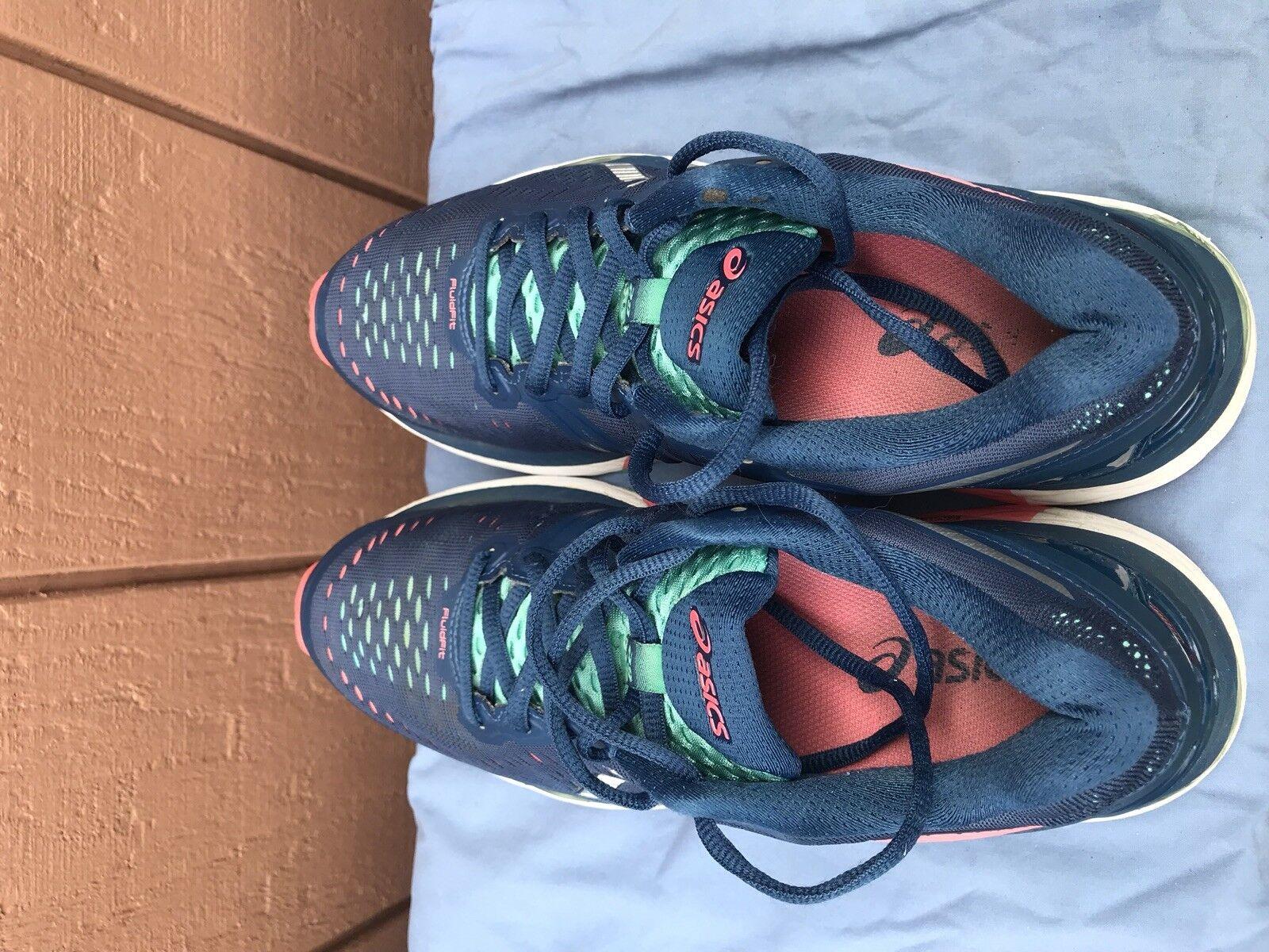 t696n asics gel kayano 23 femmes est sport nous 8,5 en chaussures sport est bleu vert a5 a1ced2
