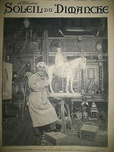 SCULPTEUR-GEROME-DANS-SON-ATELIER-STATUE-GRAVURE-JOURNAL-SOLEIL-DU-DIMANCHE-1899