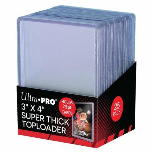 Ultra Pro 3 x 4 75pt Super Thick Toploader Card Protectors - Packet of 25