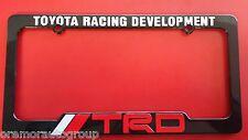 TRD Toyota Racing Development License Plate Frame Black Red & White NEW