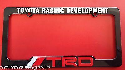 Toyota Racing Development TRD Scion tC License Plate Frame Black Red & White