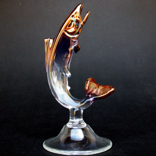 Rainbow Trout Fly Fishing Fish Figurine of Blown Glass