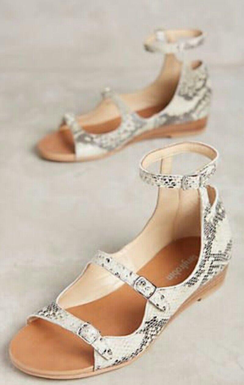bellissimo Anthropologie Idella Ankle Strap Sandals by by by Farylrobin Motif Leather Sz 9.5  100% di contro garanzia genuina