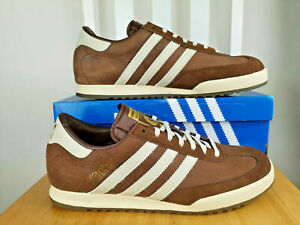 on sale e0a79 3f863 Image is loading adidas-Originals-Mens-Beckenbauer-All-Round-Trainers-Brown