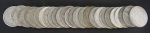 Lot-of-26-Australia-1-Florin-all-500-Silver
