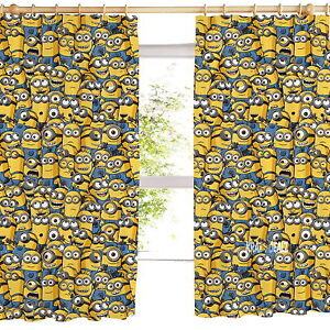 Sea-of-Minions-Pleated-Curtains-54-034-or-72-034-Drop-Gift-Despicable-Me-Polycotton