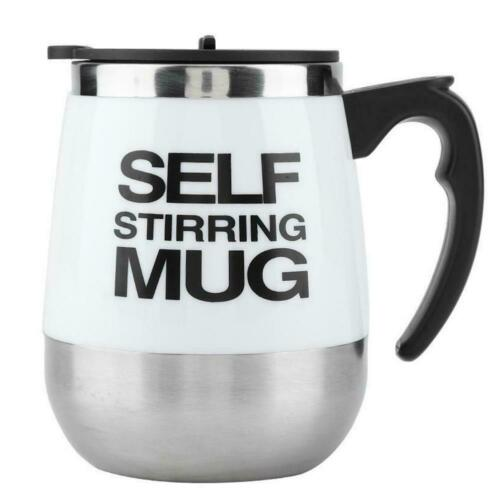 Double Stainless Auto Mixing Stir Self Stirring Mug Coffee Tea Cup Lazy Battery