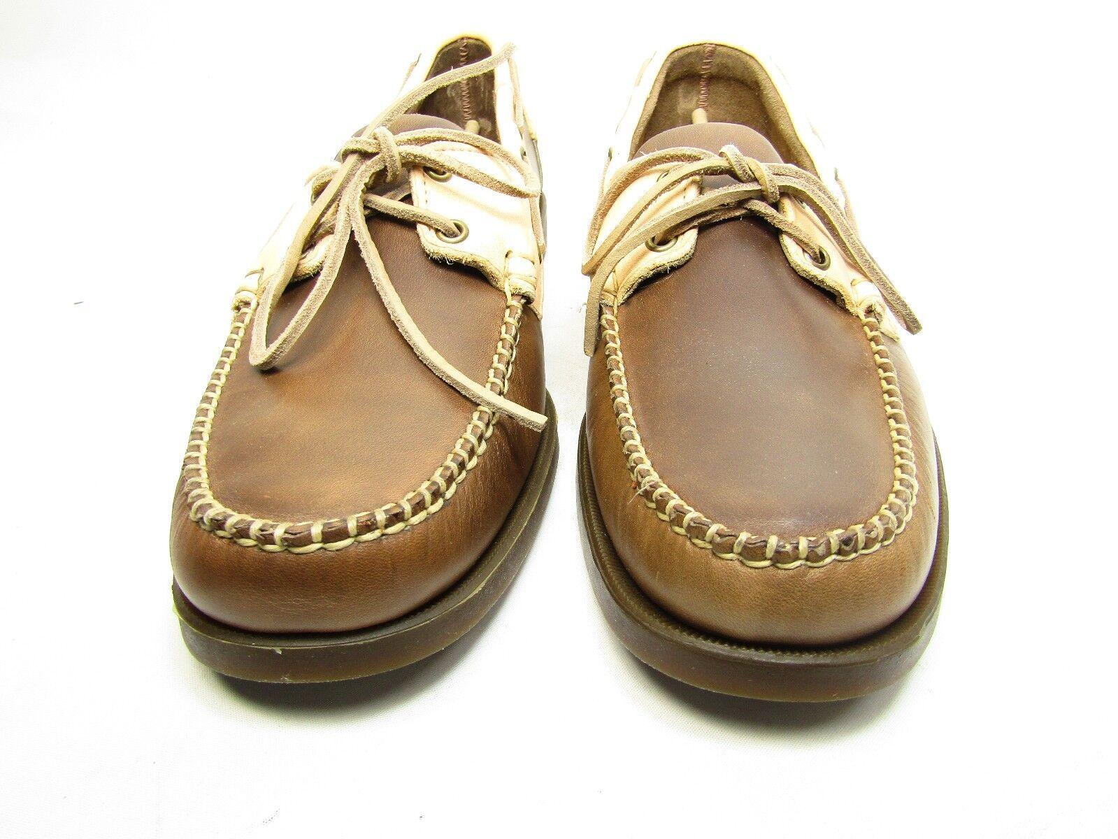Sebago Horween Spinnaker Boat shoes B720034 For Men Brown bone Size 12M