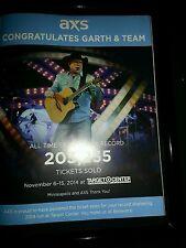 Garth Brooks Rare Target Center Concert AXS TV Promo Ad Framed!