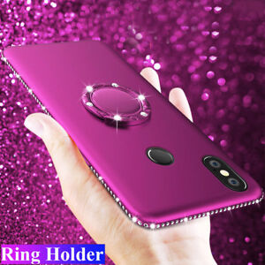 Bling-Diamond-Silicone-Ring-Holder-Case-Cover-for-Xiaomi-A2-Redmi-Note-5-5-Plus