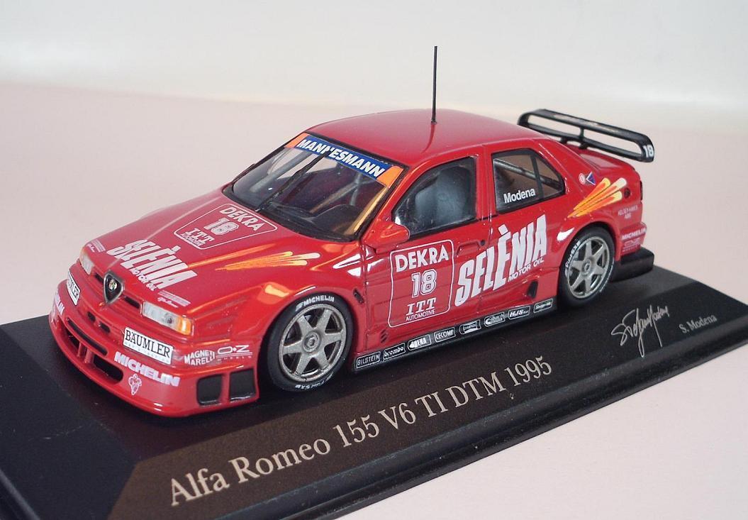 MINICHAMPS PMA 1 43 430950218 ALFA ROMEO 155 v6 DTM 95 PRES. S. Modena neuf dans sa boîte  960