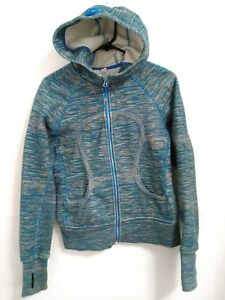 Lululemon-Athletica-Womens-Small-Blue-Gray-Fleece-Lined-Zip-Hoodie-Sweatshirt