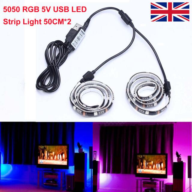 Fairy Lights Home, Furniture & DIY 2X 50cm LED Strip Light USB Light