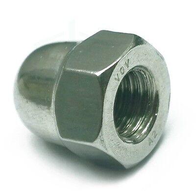 10Pcs A2 Stainless Steel Dome Head Cap Nuts Bolt Hex Metric M4 M5 M6 M8 M10 M12