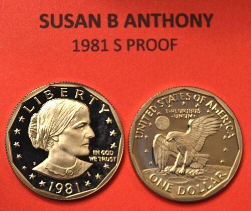 Anthony Dollar GEM DCAM PROOF TYPE ! 1981 S Susan B