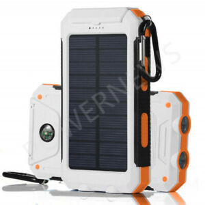 Waterproof-Solar-Power-Bank-900000mAh-Portable-External-Battery-Charger-White-US
