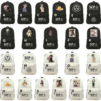 SCP Special Containment Procedures Foundation USB Backpack Bag Bookbag for Kids