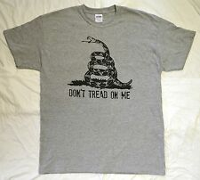 Don/'t Tread on Me Three Percenter 3/% black two-sided t-shirt sizes S-4XL