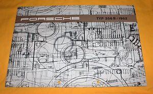 Porsche-356-B-1962-Original-Prospekt-Brochure-Catalogue-Depliant-356B-Prospetto