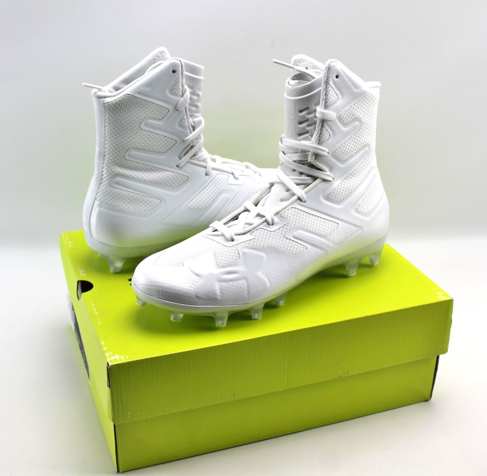 Under Armour Highlight MC High Mens MULTI SIZE Football Cleats White 3000177-100