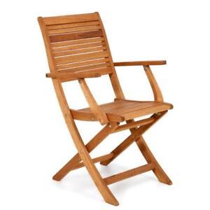 Poltrona sedia con braccioli in legno eucalipto arredo giardino per ...