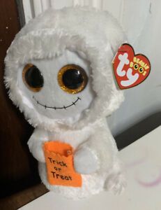 TY Beanie Baby Boos with tag Big Eyes Halloween Mist Ghost Plush