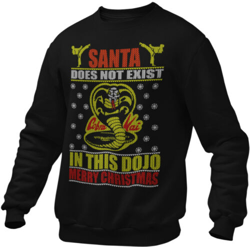 Cobra Kai Ugly Jumper Sweatshirt Christmas Xmas Karate Kid Mens Adult Santa Dojo