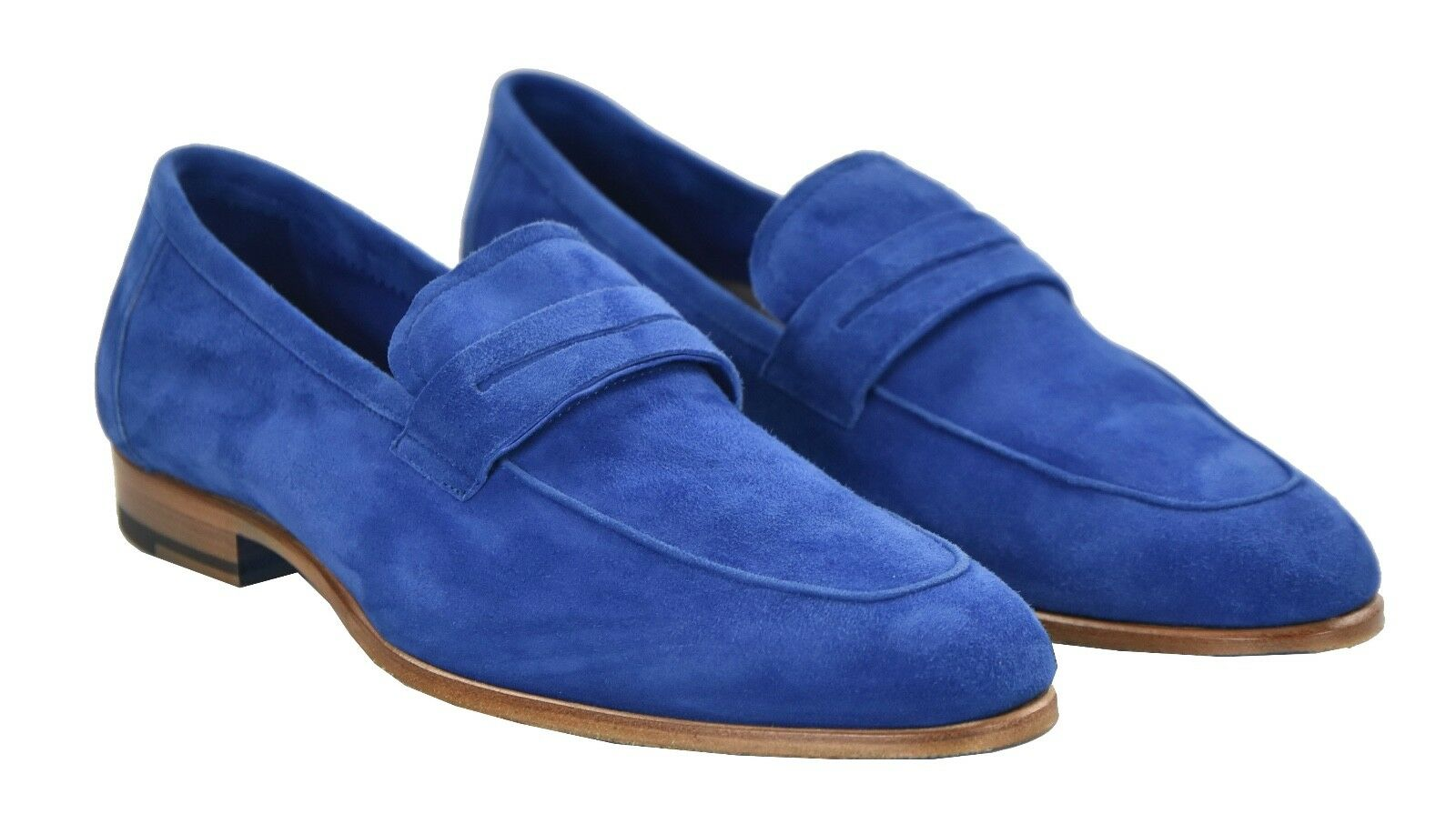 NEW KITON NAPOLI LOAFERS scarpe 100% LEATHER SUEDE Dimensione 6 US 39 EU 19O42