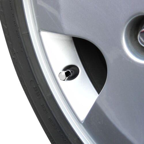 Chevy Corvette C6 Logo Chrome Tire Stem Valve Caps Set