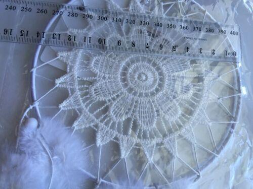 Lady Women Girl White Crochet Feather Dream Catcher Door Room Car hanger gift