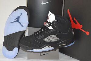 separation shoes 39509 92c49 Nike Air Jordan V 5 Black Metallic 2016 OG Retro Size 11