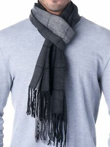 Hammer-Anvil-Mens-Plaid-Striped-Scarf-Womens-Winter-Scarves-Cashmere-Soft-Feel